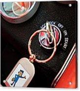 1963 Chevrolet Corvette Dashboard Acrylic Print