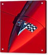 1963 Chevrolet Corvette Hood Emblem Acrylic Print