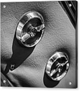1963 Chevrolet Corvette Split Window Door Latch -292bw Acrylic Print