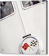 1963 Chevrolet Corvette Split Window Emblem -445c Acrylic Print