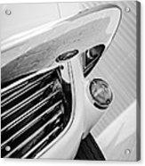 1963 Chevrolet Corvette Split Window Grille -221bw Acrylic Print