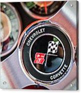 1963 Chevrolet Corvette Split Window Steering Wheel Emblem -170c Acrylic Print
