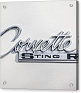 1963 Chevrolet Corvette Split Window - Sting Ray Emblem -252c Acrylic Print