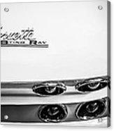 1963 Chevrolet Corvette Split Window Taillight Emblem -458bw Acrylic Print