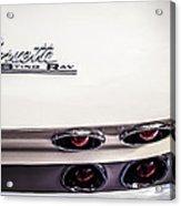 1963 Chevrolet Corvette Split Window Taillight Emblem -458c Acrylic Print