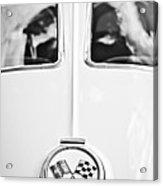 1963 Chevrolet Corvette Split Window Wheel Emblem -118bw Acrylic Print