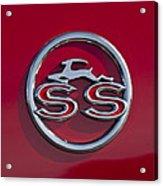 1963 Chevrolet Impala Ss Emblem Acrylic Print