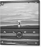 1963 Ford Falcon Sprint Convertible Bw    Acrylic Print by Rich Franco