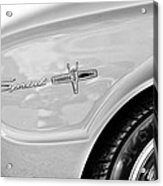 1963 Ford Falcon Sprint Side Emblem Acrylic Print by Jill Reger