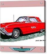 1963 Ford Thunderbird Acrylic Print by Jack Pumphrey