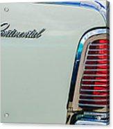 1963 Lincoln Continental Taillight Emblem -0905bw Acrylic Print