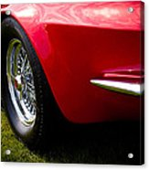 1963 Red Chevy Corvette Stingray Acrylic Print