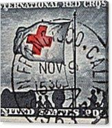 1963 Red Cross Stamp - San Francisco Postmark Acrylic Print
