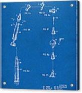 1963 Space Capsule Patent Blueprint Acrylic Print
