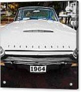 1964 Ford Thunderbird Painted Acrylic Print