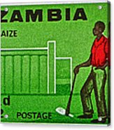 1964 Zambia Farmer Stamp Acrylic Print