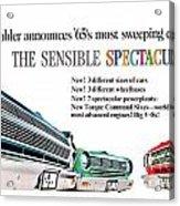 1965 - Rambler - Ambassador - American - Automobile Advertisement - Color Acrylic Print