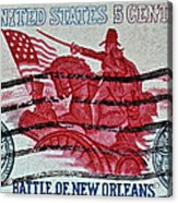 1965 Battle Of New Orleans Stamp Acrylic Print