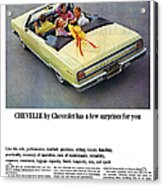 1965 Chevelle Convertible Acrylic Print