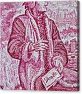 1965 Dante Anniversary Stamp Acrylic Print
