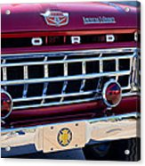 1965 Ford American Lafrance Fire Truck Acrylic Print