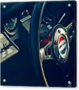 1965 Ford Gt 40 Steering Wheel Emblem Acrylic Print