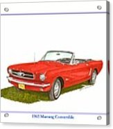1965 Ford Mustang Convertible Pony Car Acrylic Print