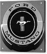 1965 Ford Mustang Emblem Acrylic Print