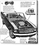 1965 Ford Mustang Performance Kits Acrylic Print