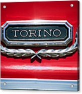 1965 Ford Torino Emblem Acrylic Print