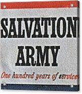 1965 Salvation Army Stamp Acrylic Print