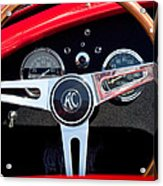 1965 Shelby Ac Cobra Roadster 289 Steering Wheel Emblem Acrylic Print