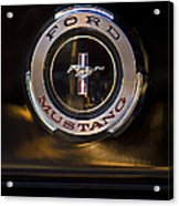 1965 Shelby Prototype Ford Mustang Emblem 2 Acrylic Print