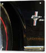 1965 Shelby Prototype Ford Mustang Emblem -0248c Acrylic Print