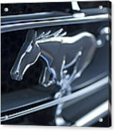 1965 Shelby Prototype Ford Mustang Grille Emblem 2 Acrylic Print