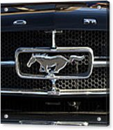 1965 Shelby Prototype Ford Mustang Hood Ornament Acrylic Print
