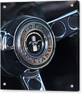 1965 Shelby Prototype Ford Mustang Steering Wheel Emblem -0356c Acrylic Print