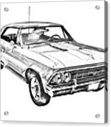 1966 Chevy Chevelle Ss 396 Illustration Acrylic Print