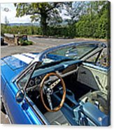 1966 Convertible Mustang On Tour In The Cotswolds Acrylic Print