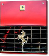 1966 Ferrari 330 Gtc Coupe Hood Emblem -0391c Acrylic Print