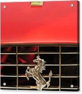 1966 Ferrari 330 Gtc Coupe Hood Ornament Acrylic Print by Jill Reger
