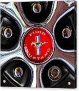 1966 Ford Mustang Gt Wheel Emblem Acrylic Print