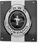 1966 Ford Mustang Shelby Gt 350 Emblem Gas Cap -0295bw Acrylic Print