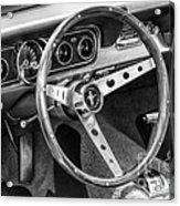 1966 Mustang Dashboard Bw Acrylic Print