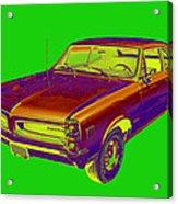 1966 Pointiac Lemans Car Pop Art Acrylic Print