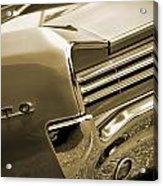1966 Pontiac Gto Tail In Sepia Acrylic Print