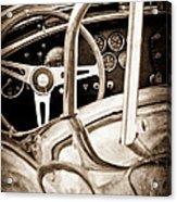 1966 Shelby 427 Cobra Steering Wheel Emblem Acrylic Print