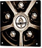 1966 Shelby Cobra Gt350 Wheel Rim Emblem Acrylic Print