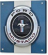 1966 Shelby Gt 350 Emblem Gas Cap Acrylic Print