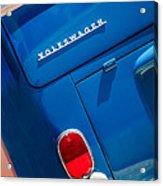 1966 Volkswagen Vw 21-window Deluxe Micro Bus -0553c 1966 Acrylic Print